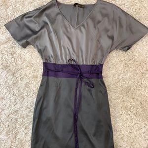 Limited Satin Color Block Dress